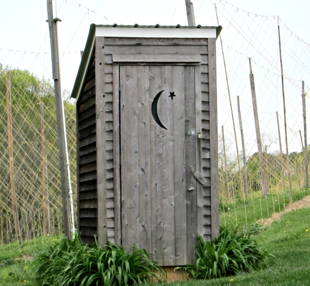 Outhouse, Ruhlman Brewery, Hampstead, MD USA IMG 4022 Photograph by Dolores Kelley  Roy and Dolores Kelley Photographs