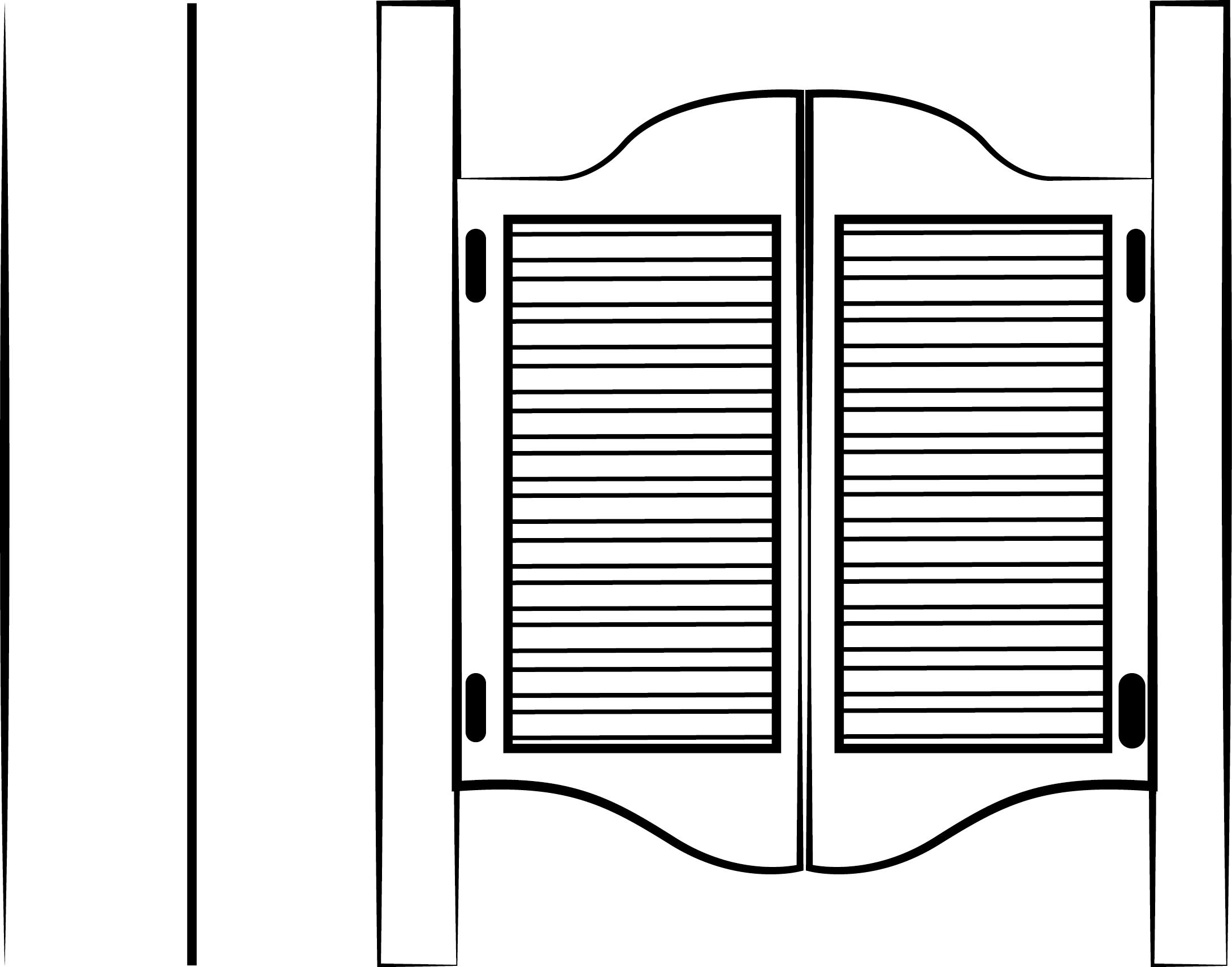 Handcrafted custom swinging saloon doors - Handcrafted Custom Swinging Saloon Doors 36