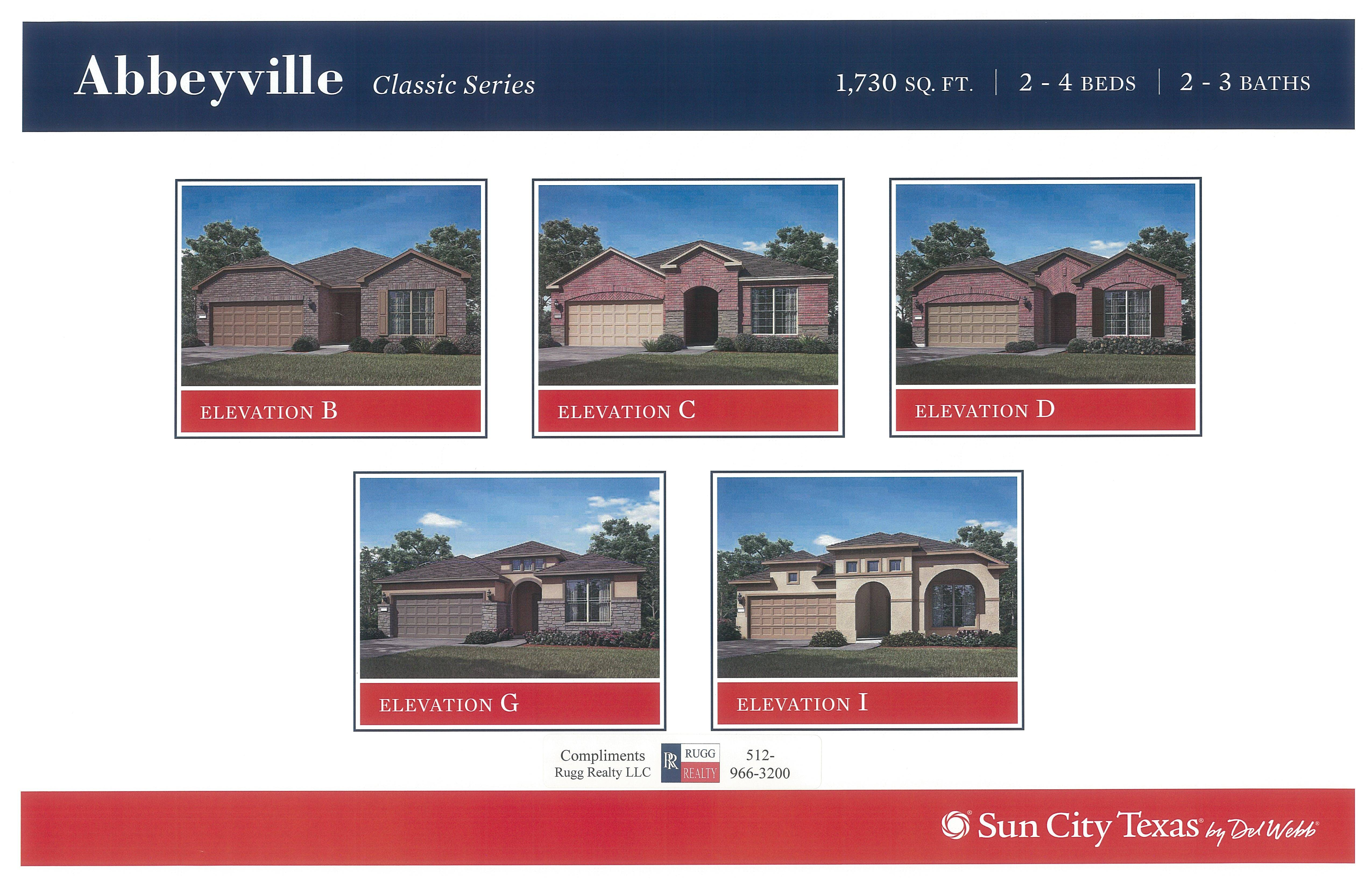 New sun city texas 2015 classic series models about t for Classic homes realty llc