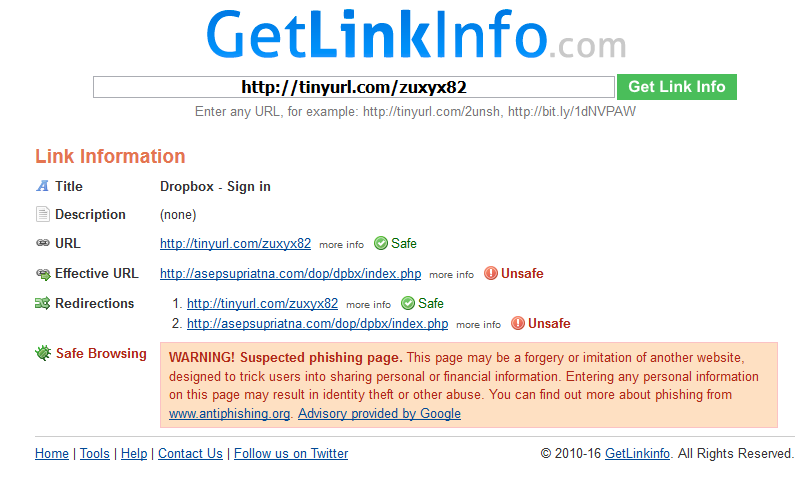 Where does that TinyURL link go to and how to spot a potential attack 4