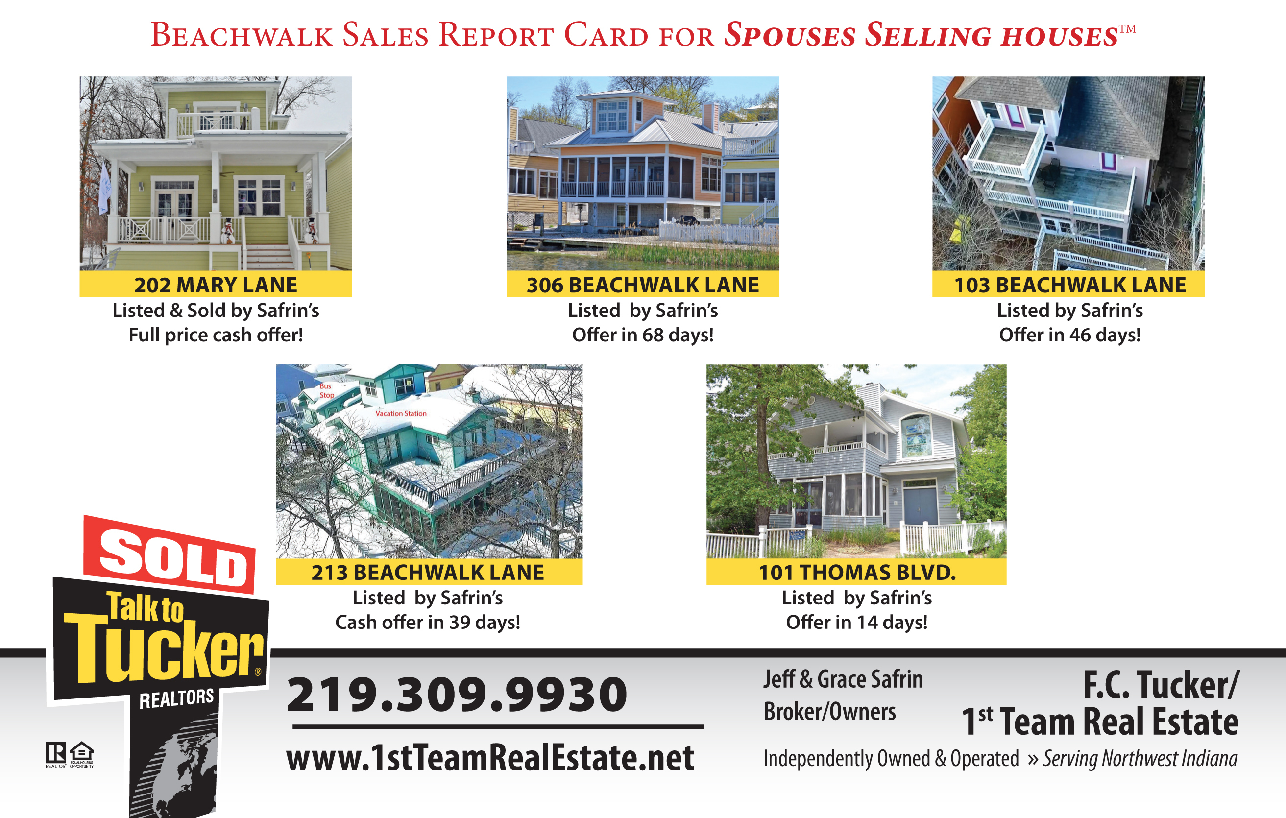Beachwalk Resort Homes Sold by Spouses Selling Houses