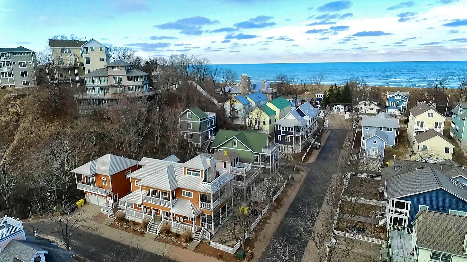 Beachwak Resort Community Aerial View Proximity To Lake Michigan S