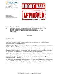 Short sale approval letter