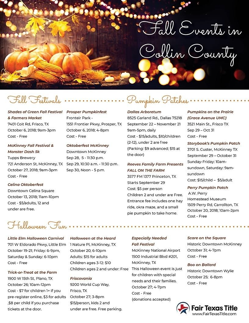 2018 Collin County Fall Events