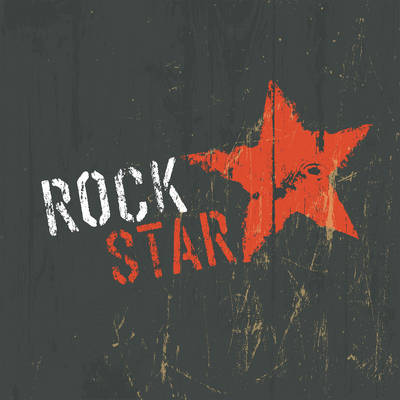 Rock Star Poster with a Red Star
