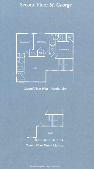 St George second level floor plan