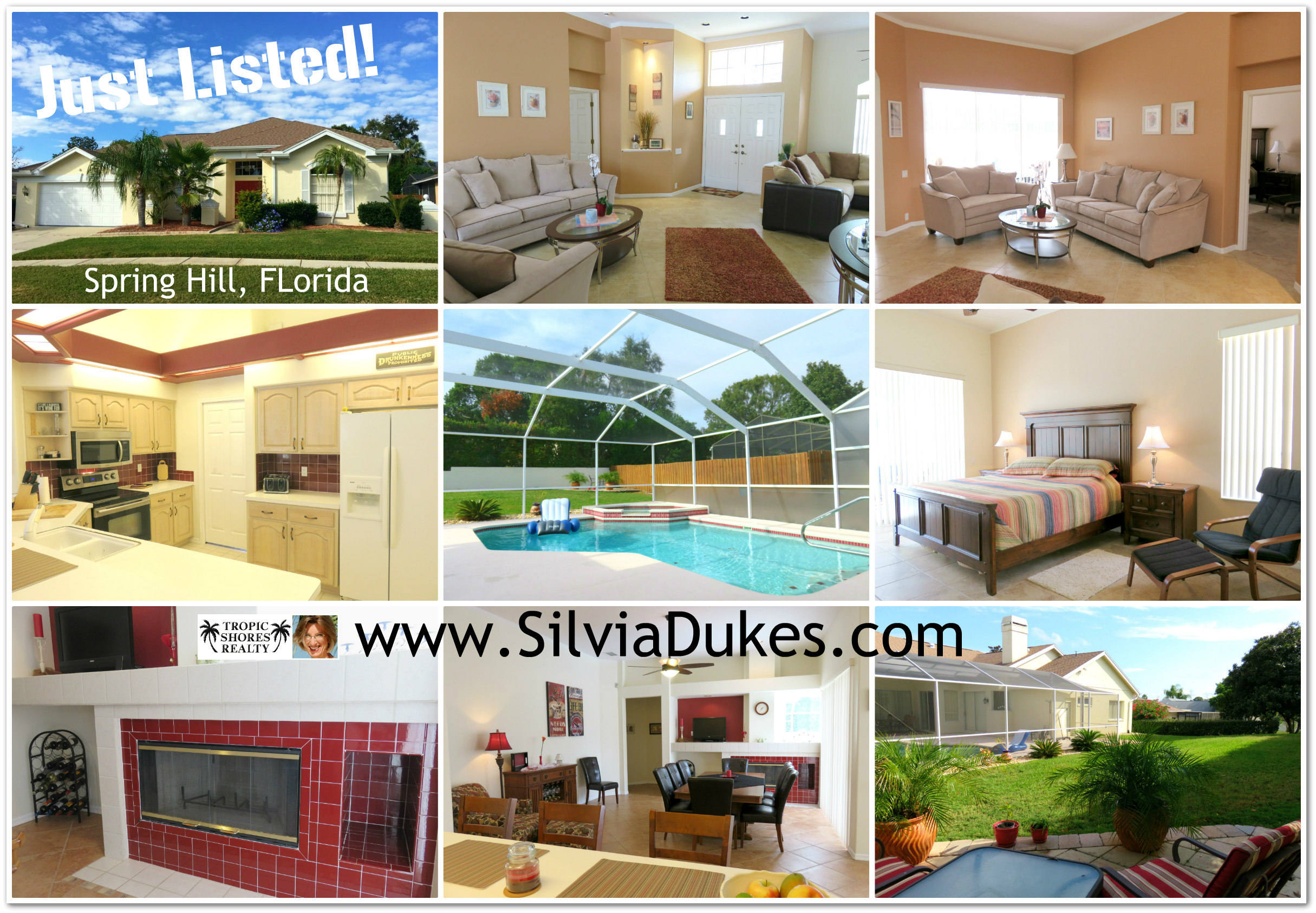 Spring Hill Florida Seven Hills Pool Home for Sale by Realtor Silvia Dukes