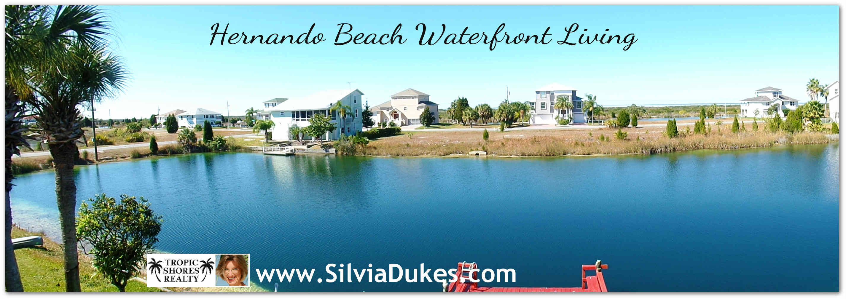 Hernando Beach Florida waterfront living Canal View Panorama