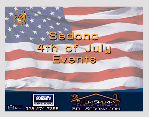 American Flag Sedona 4th of July Sheri Sperry