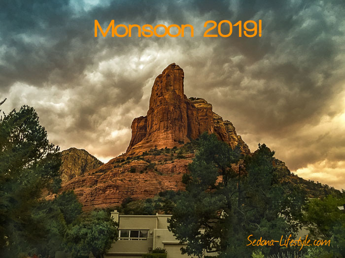Sedona September Weather Recap - Monsoon 2019 Coffeepot Rock