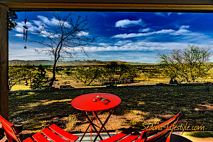 View from Front Porch - Cornville horse property