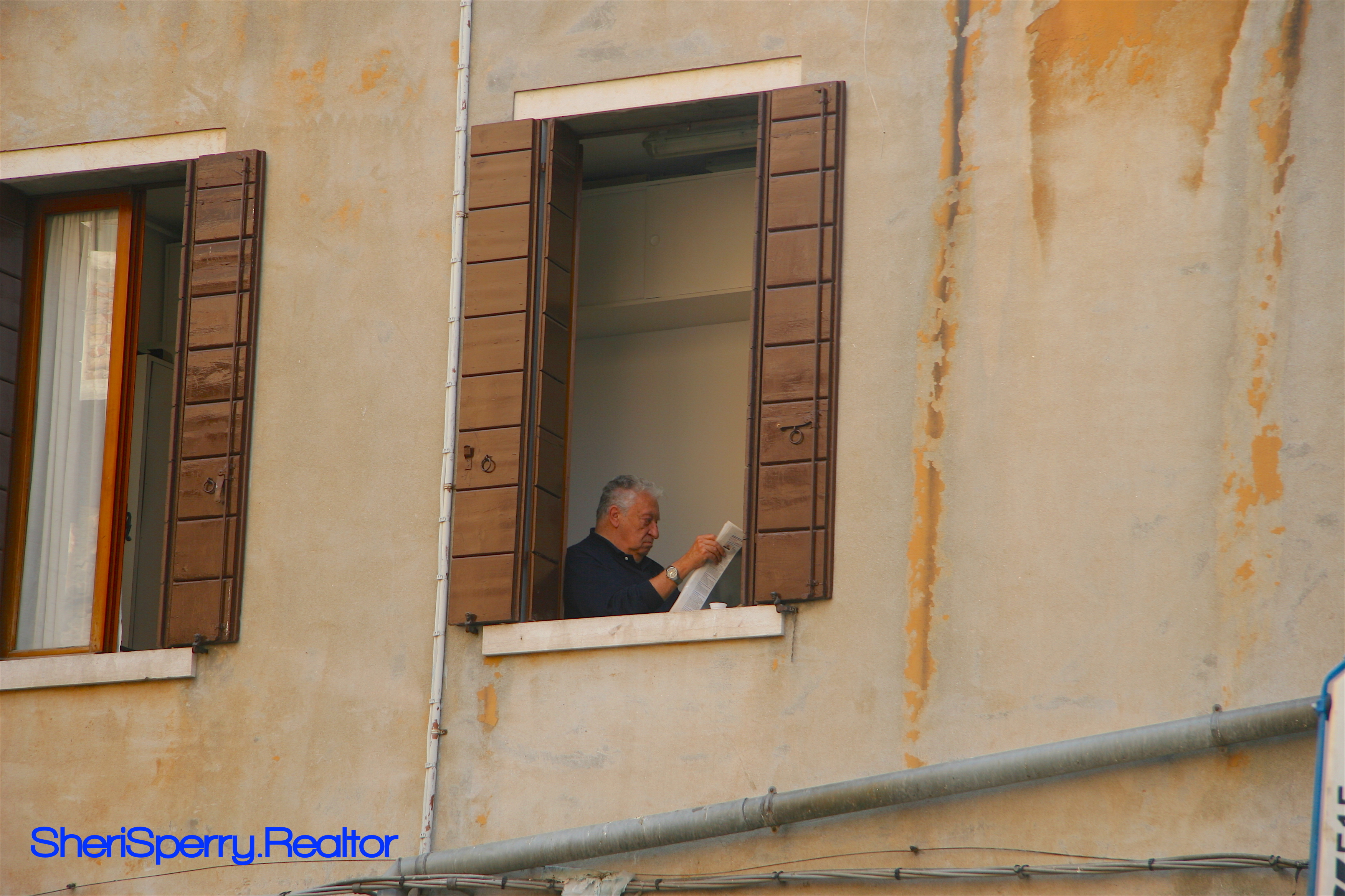 Venice - Man In A Window