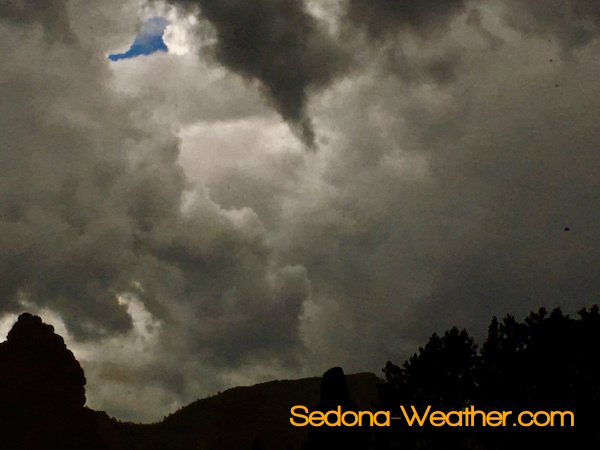 Monsoon-tornado like cloud forming