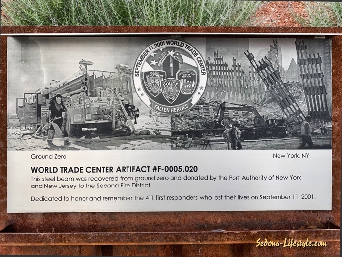 WTC artifact plaque