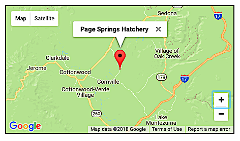 Map of Page Springs Hatchery