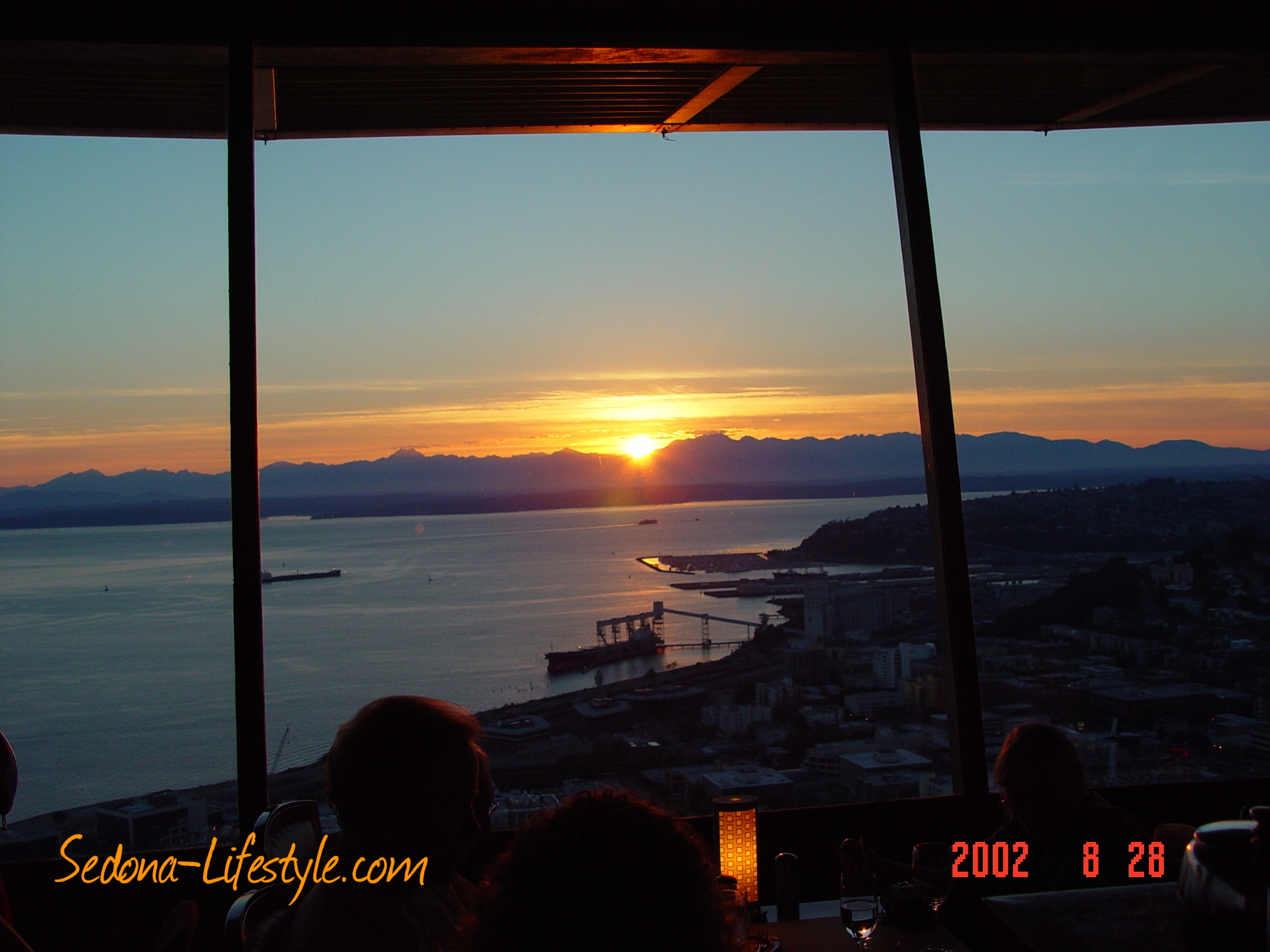 Seattle Space Needle at sunset dinner