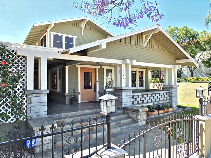 Craftsman style home for sale in long beach for Craftsman homes for sale in california