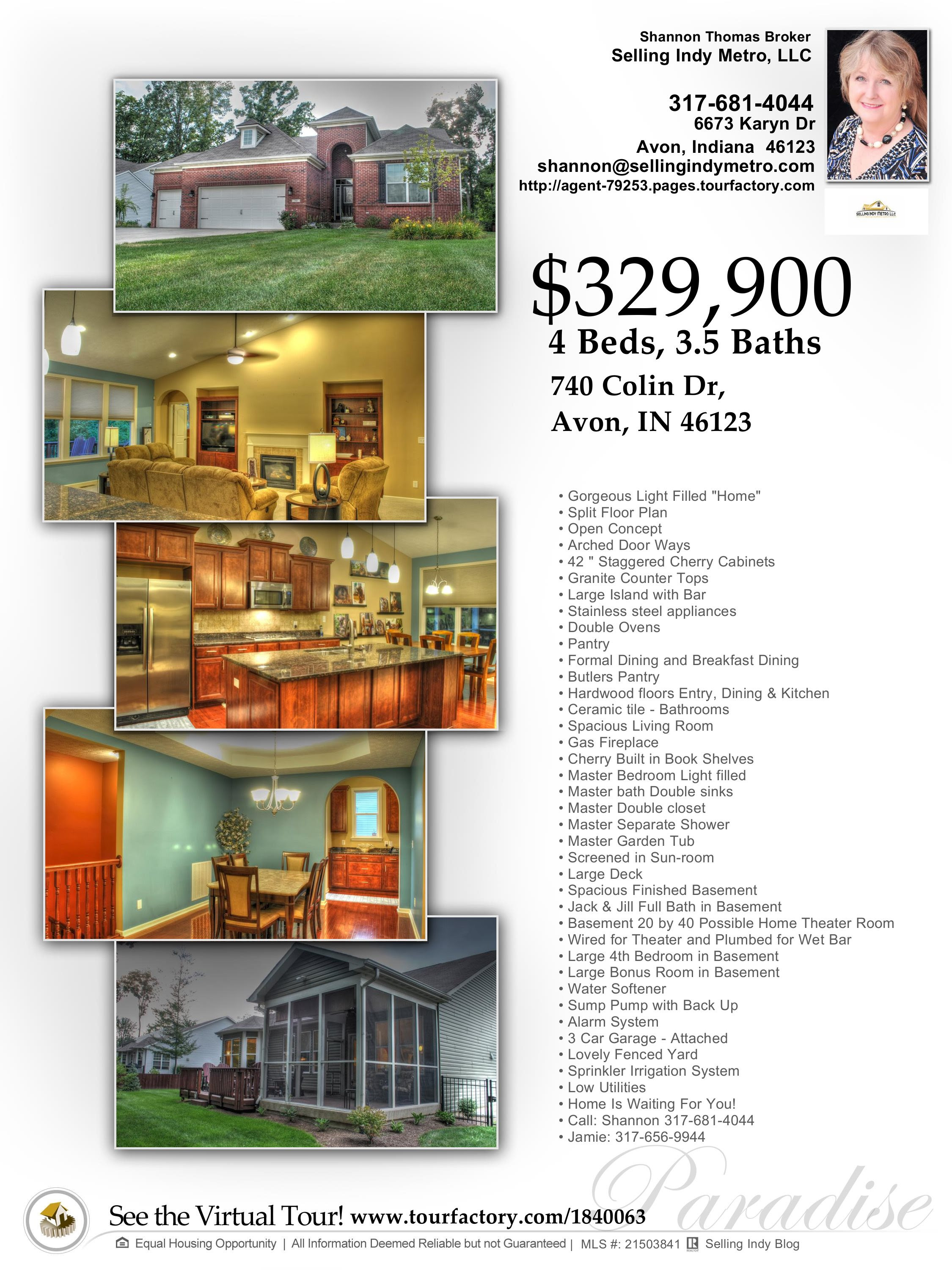 Avon Indiana Home For Sale