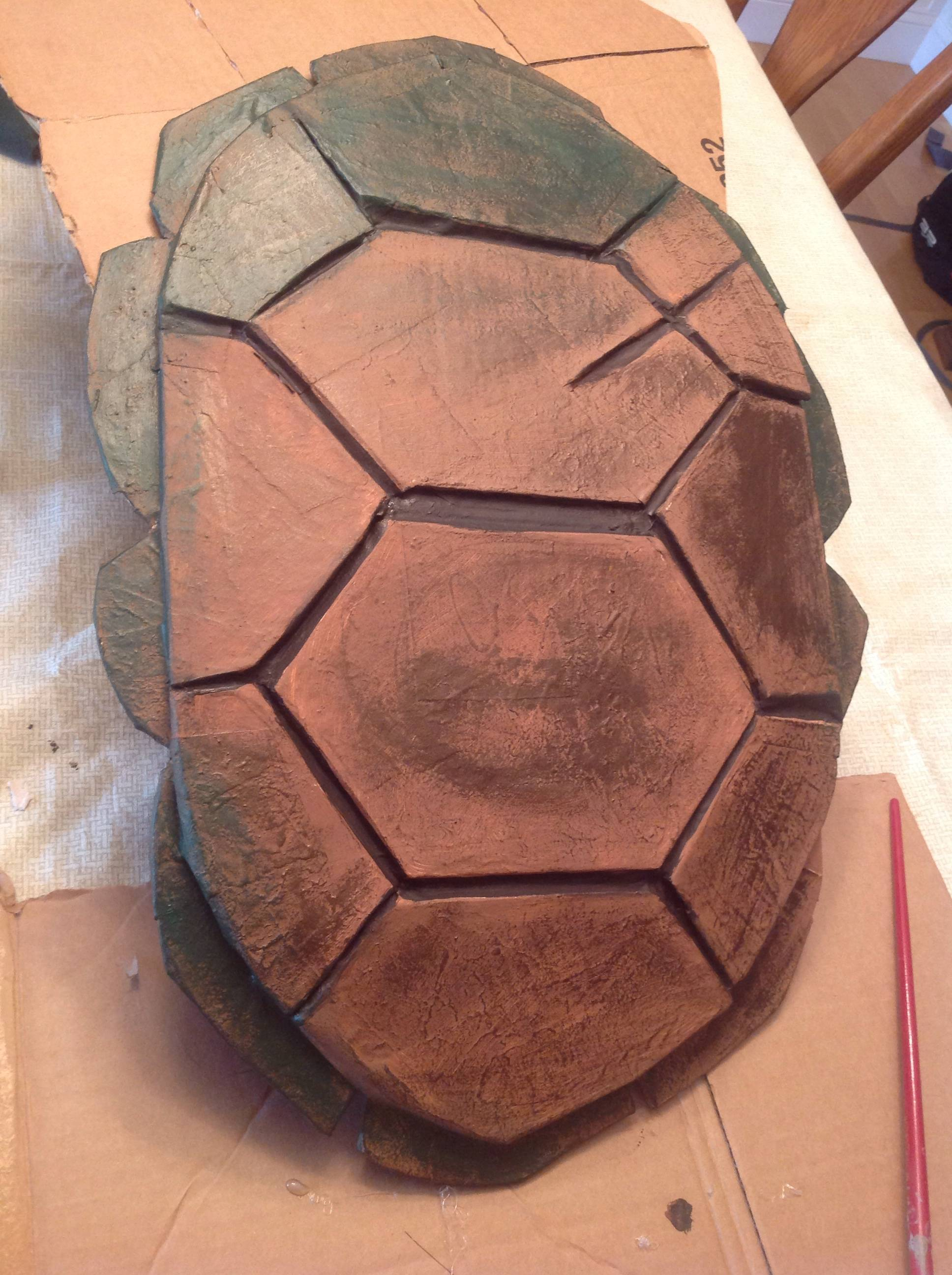 How to make a teenage mutant ninja turtle shell paint entire shell with a basic tan color solutioingenieria Image collections