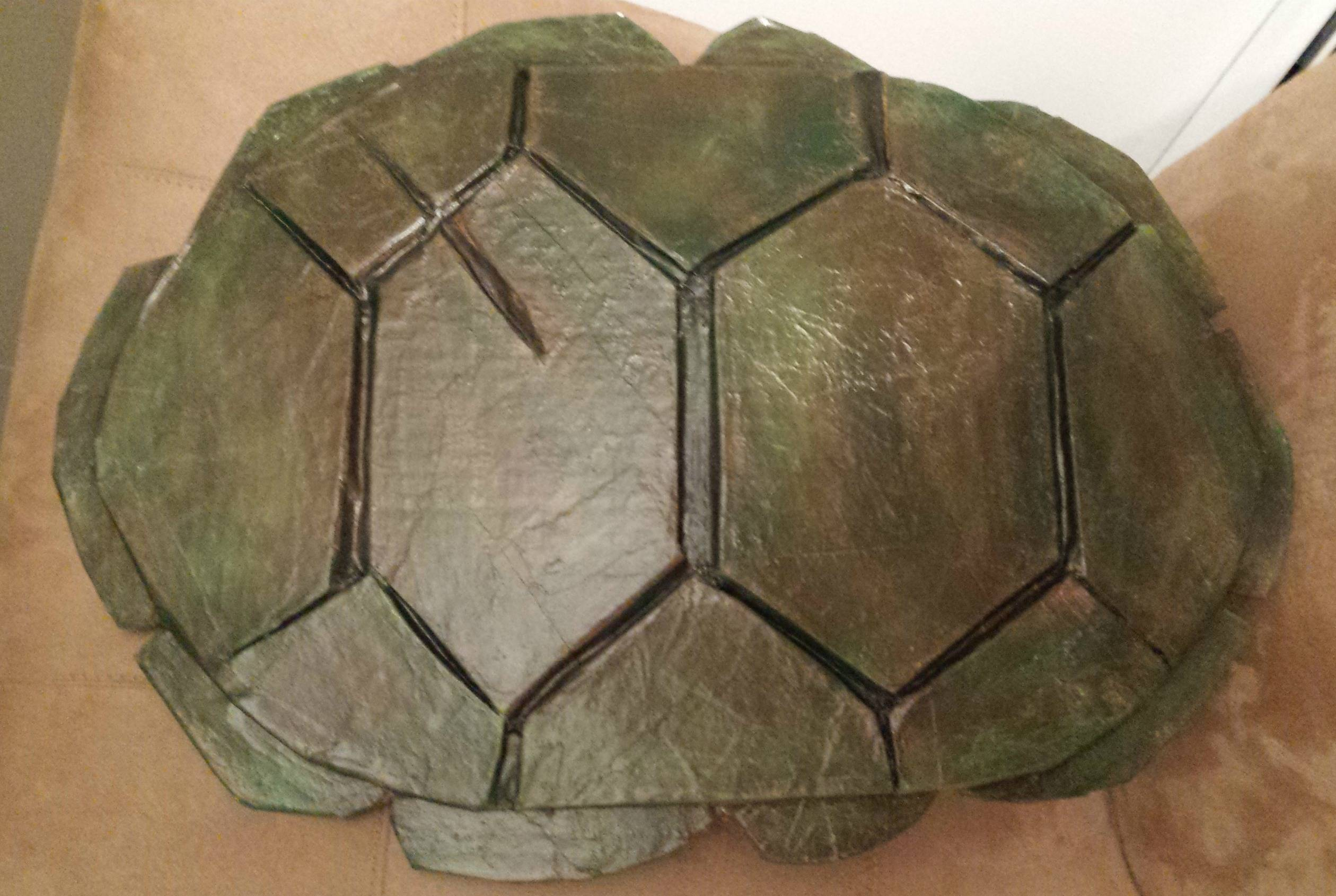 How to make a teenage mutant ninja turtle shell for What are shells made of