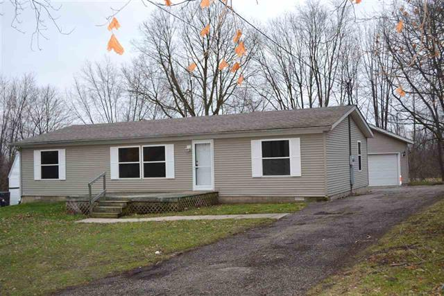 Thorntown Indiana 46071 3 bedroom 2 bath manufactured home for sale with 2 car detached garage 1.200 finished square feet under $80,000 listed for sale by Lafayette Keller Williams Realty real estate broker agent