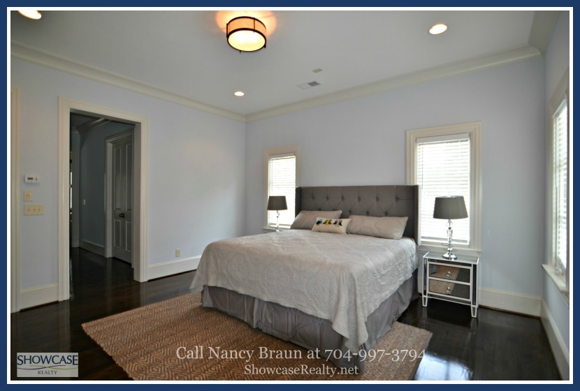 Enjoy seclusion and moments of peace and quiet in any of the two master bedrooms of this Charlotte home for sale.