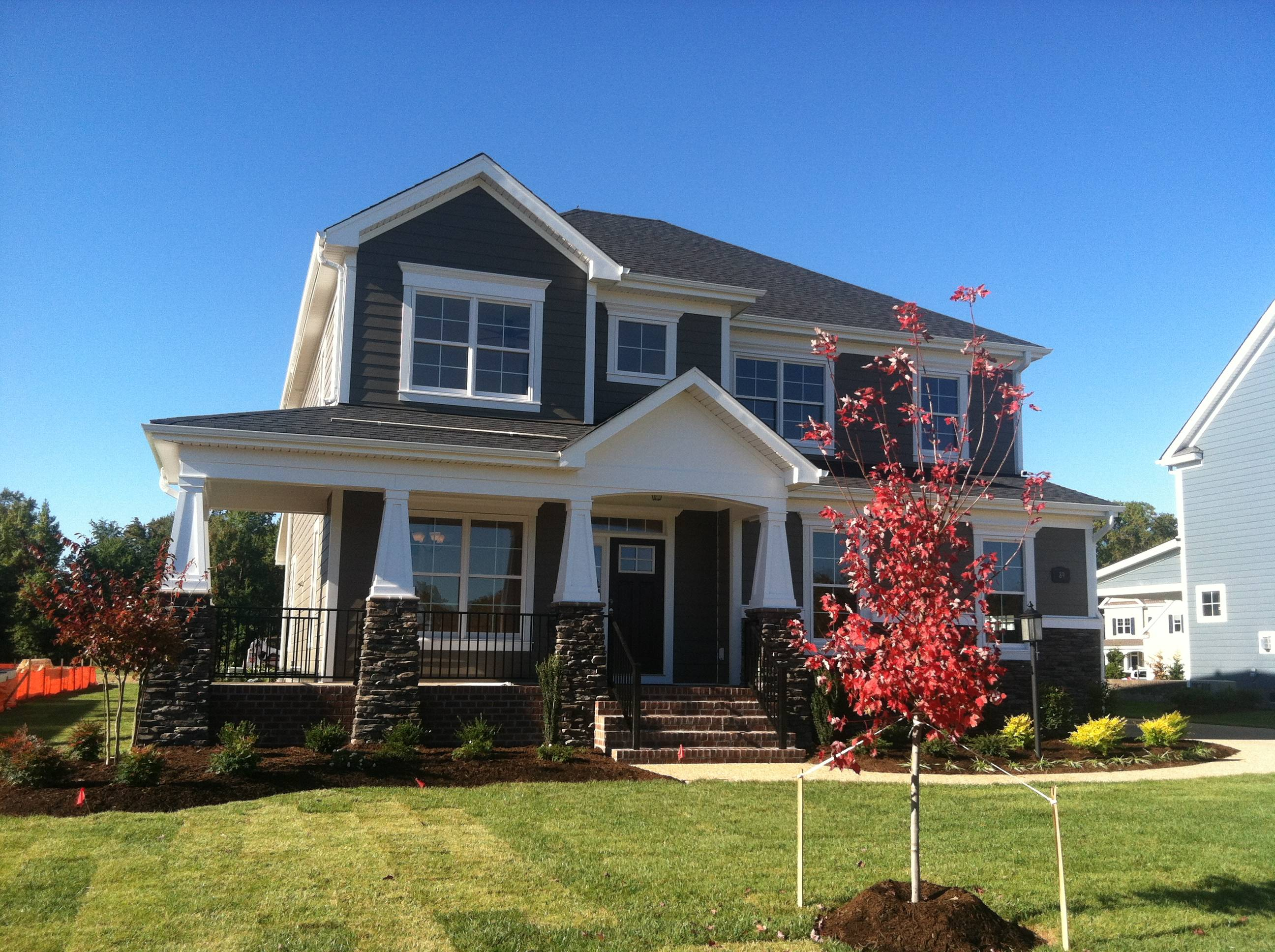 New model home by sasser construction founders pointe for New construction craftsman homes