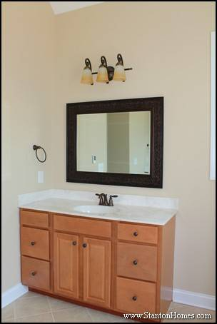 Framed Mirror Ideas | Custom Home Master Bathrooms