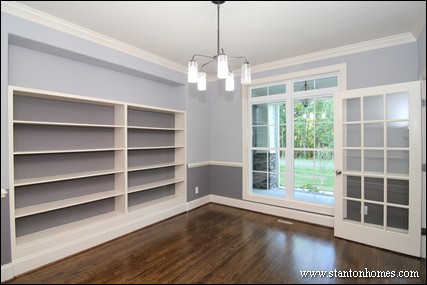 2014 New Home Storage Ideas | Custom built in bookcases