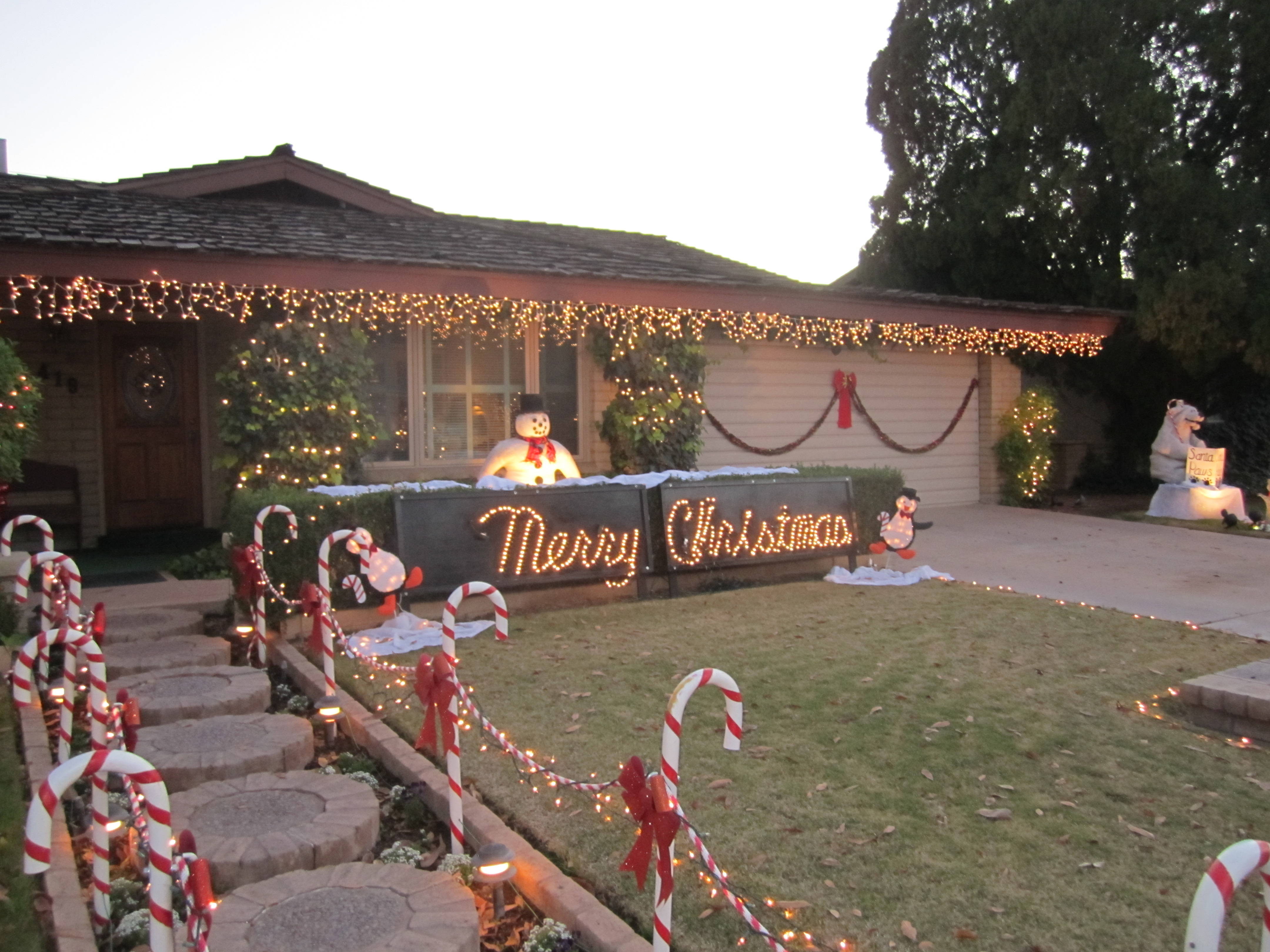 santa paws - How To Decorate My Front Yard For Christmas