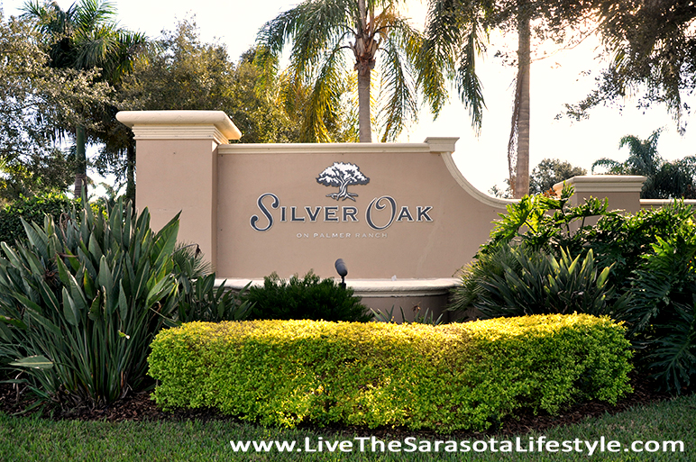 Silver Oak Entrance Monument Sarasota Florida