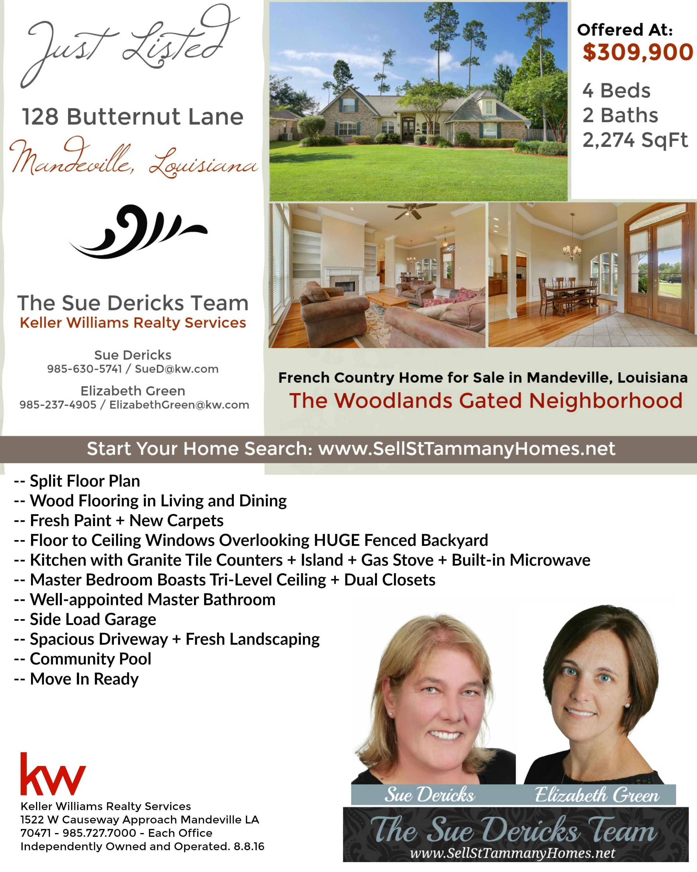 128 Butternut Lane: Home for Sale in Mandeville