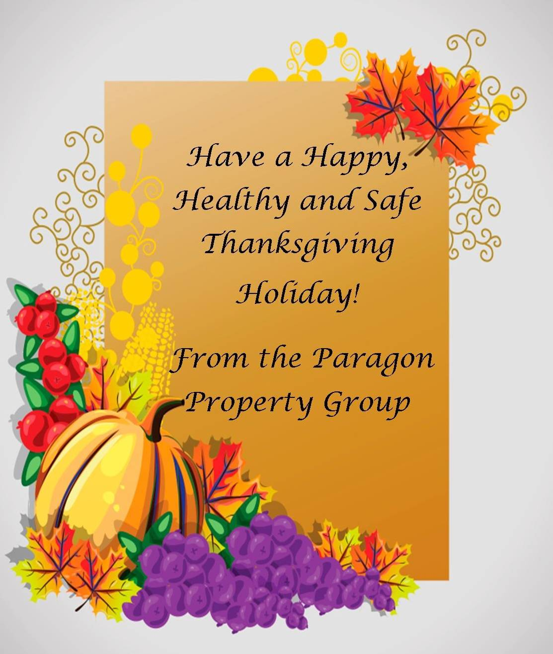 Happy Thanksgiving From The Paragon Property Group
