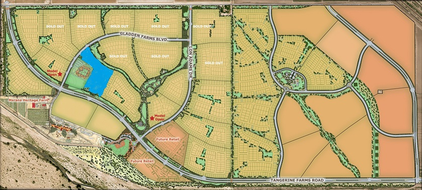 Map of Gladden Farms