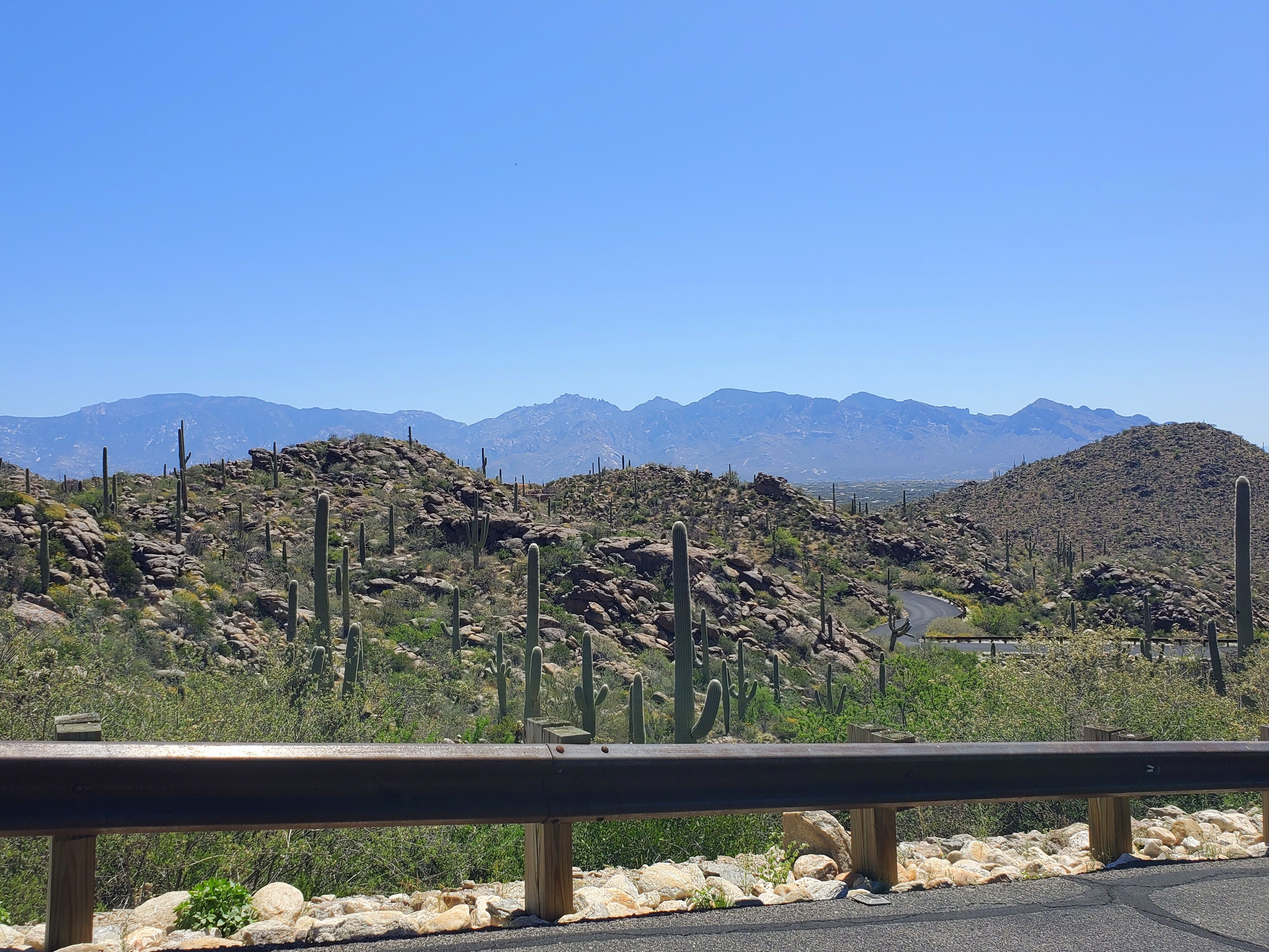 Layers of hills and mountains in Saguaro Ranch
