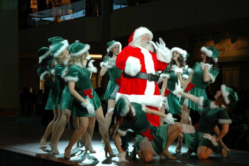Santa Claus at Fashion Show Mall Las Vegas Nevada