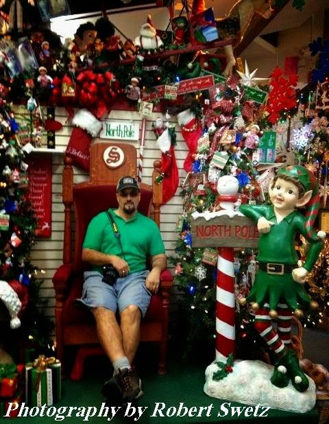 Vegas Bob in Santa's chair