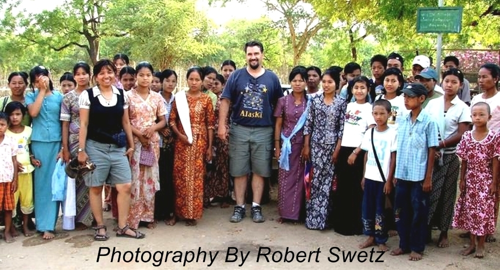 Robert Swetz with Burmese people