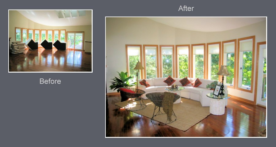 Home staging can be a great asset to selling a custom for Staging a house before and after