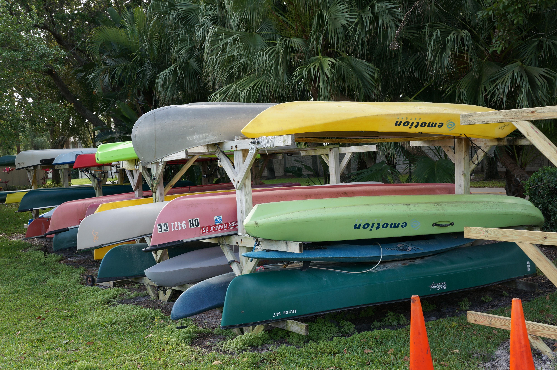 Kayak storage at Riverwalk Jupiter