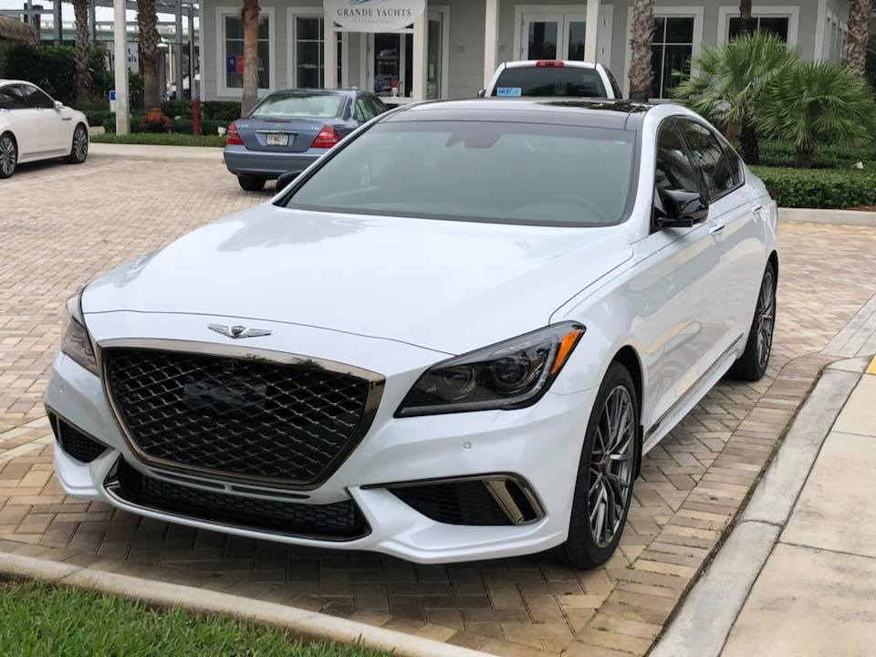 Genesis G80 Turbo in white