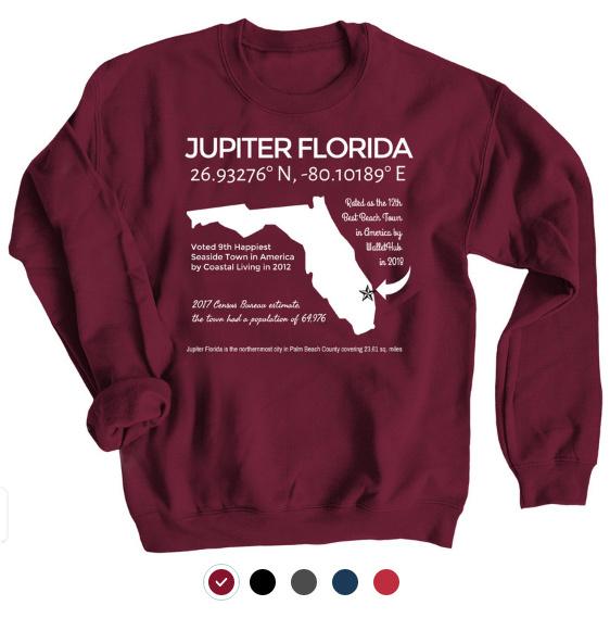 Jupiter Florida souvenir T-shirt