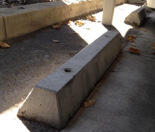 Precast Concrete Curb Reinforcement : Precast concrete bumper curbs replacing in sacramento