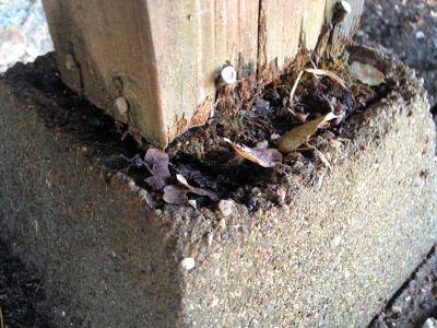 Can a Post Rot If It Is Up On a Pier Block?