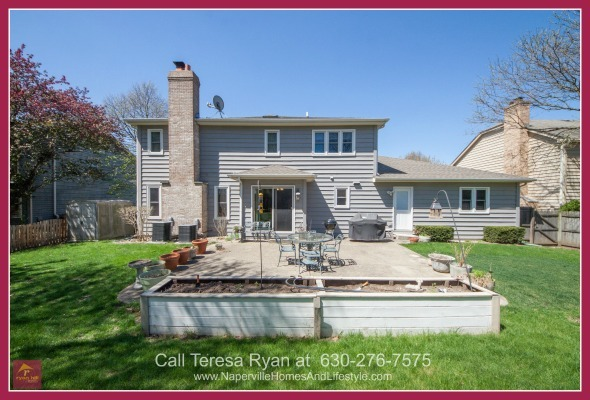 Homes for Sale in Naperville IL - Enjoy the serenity of your surroundings in the stunning backyard of this Naperville home for sale.