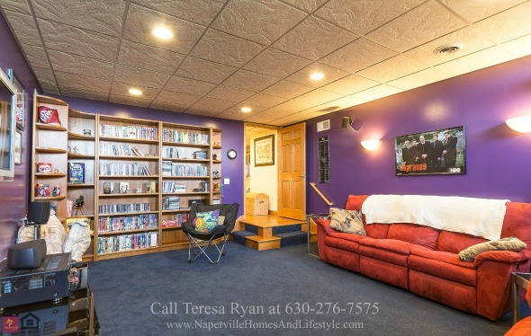 Real Estate Properties for Sale in Wilmington IL - Discover how easy it it to entertain guests in your very own home theater in this property for sale in Wilmington IL.