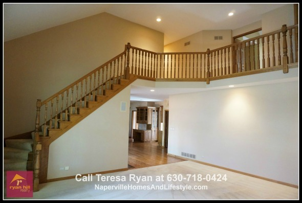 Find exquisite details all throughout this home for sale in Naperville - the staircase alone will have you impressed.
