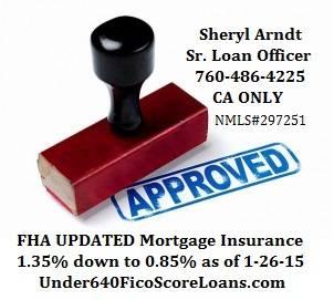 FHA Mortgage Insurance update 760-486-4225