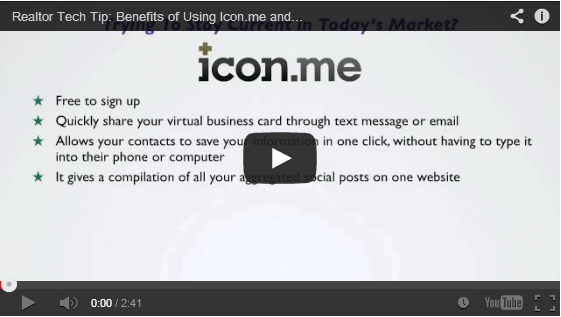 Tech tip benefits of digital business cards for realtors icon is a valuable tool thats quick and easy to maintain i recently set mine up and it took no time to make here is the link to check it colourmoves