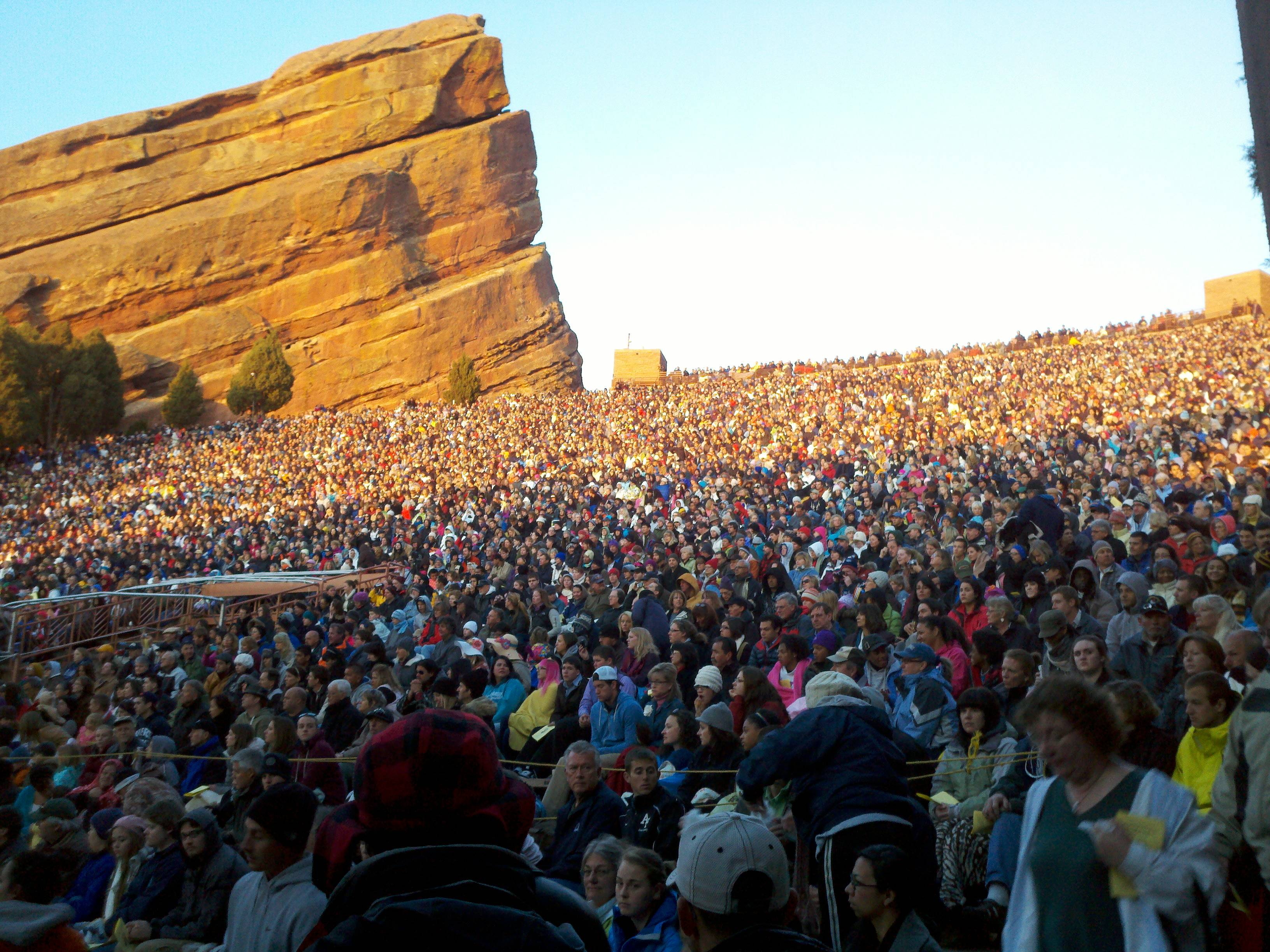 Red Rocks Ampitheater Easter Sunrise Service